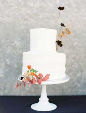 Simple Two-Tier Wedding Cake at the Modern Art Museum of Fort Worth in Texas
