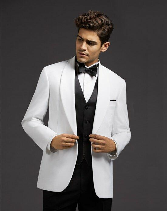 The Men's Wearhouse® One-Button Shawl Lapel Dinner Jacket Wedding Tuxedos + Suit photo