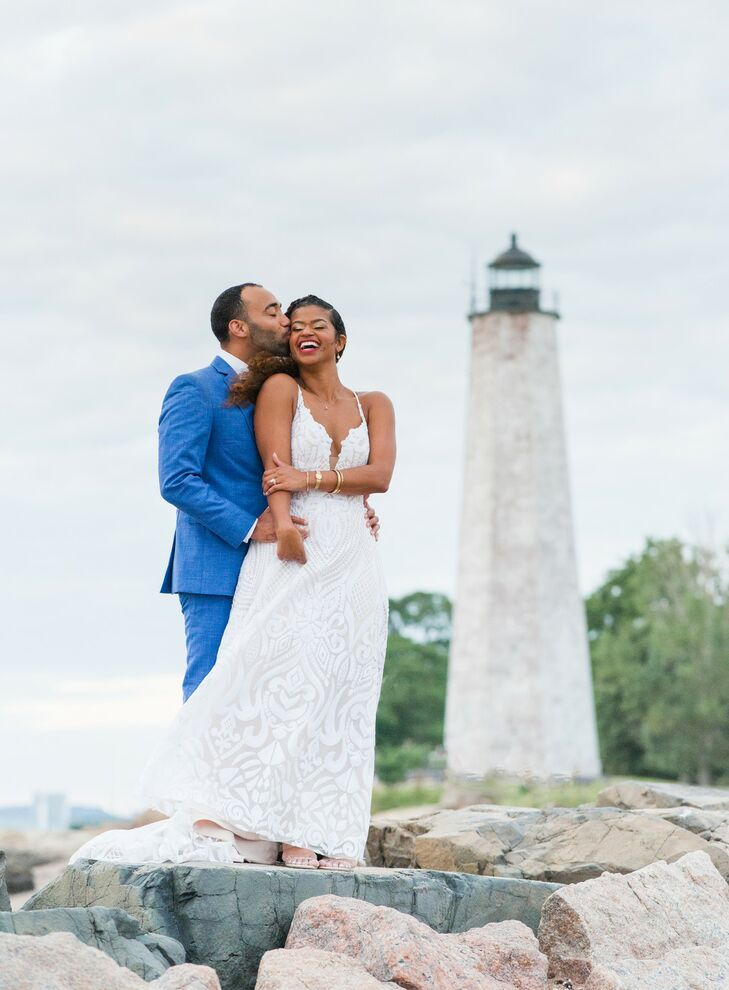 """""""We wanted everything to be airy, colorful and fun,"""" Alexandra (Alex) Malebranche says of her wedding to Nathaniel (Nate) Koonce II. They pulled inspi"""