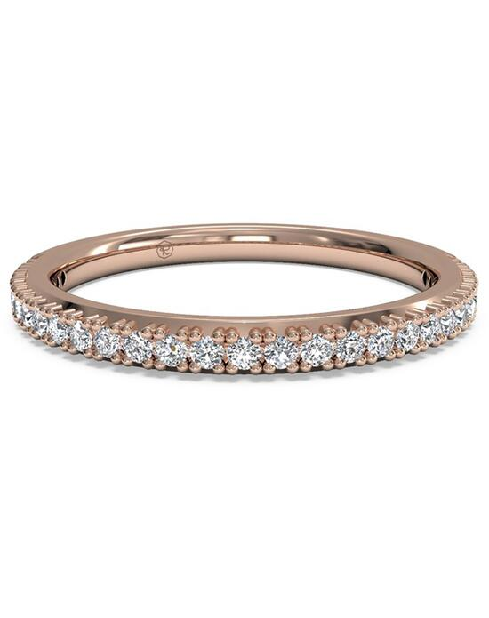 Ritani Women's French-Set Diamond Wedding Band - in 18kt Rose Gold (0.16 CTW) Wedding Ring photo