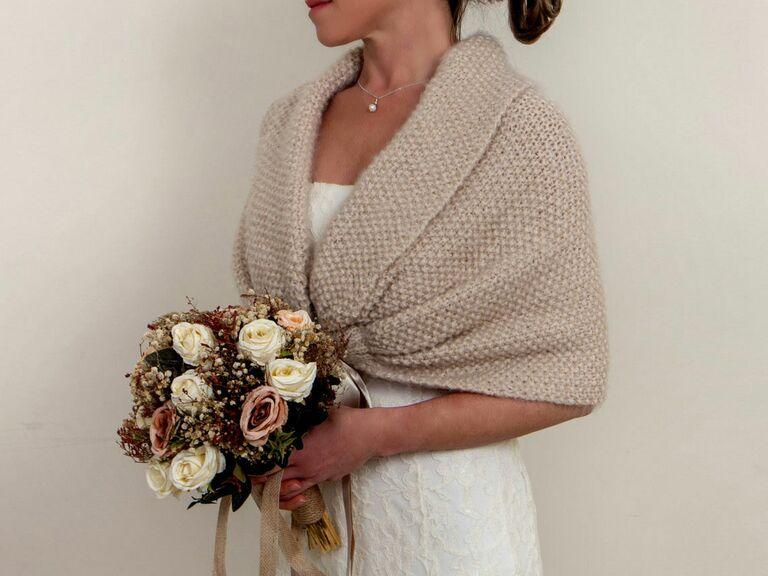 knitted bridesmaid shrug