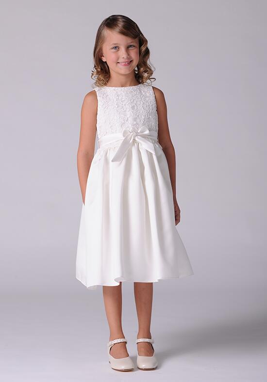 Us Angels Beautiful Color The Azalea Dress-105_Ivory Flower Girl Dress photo
