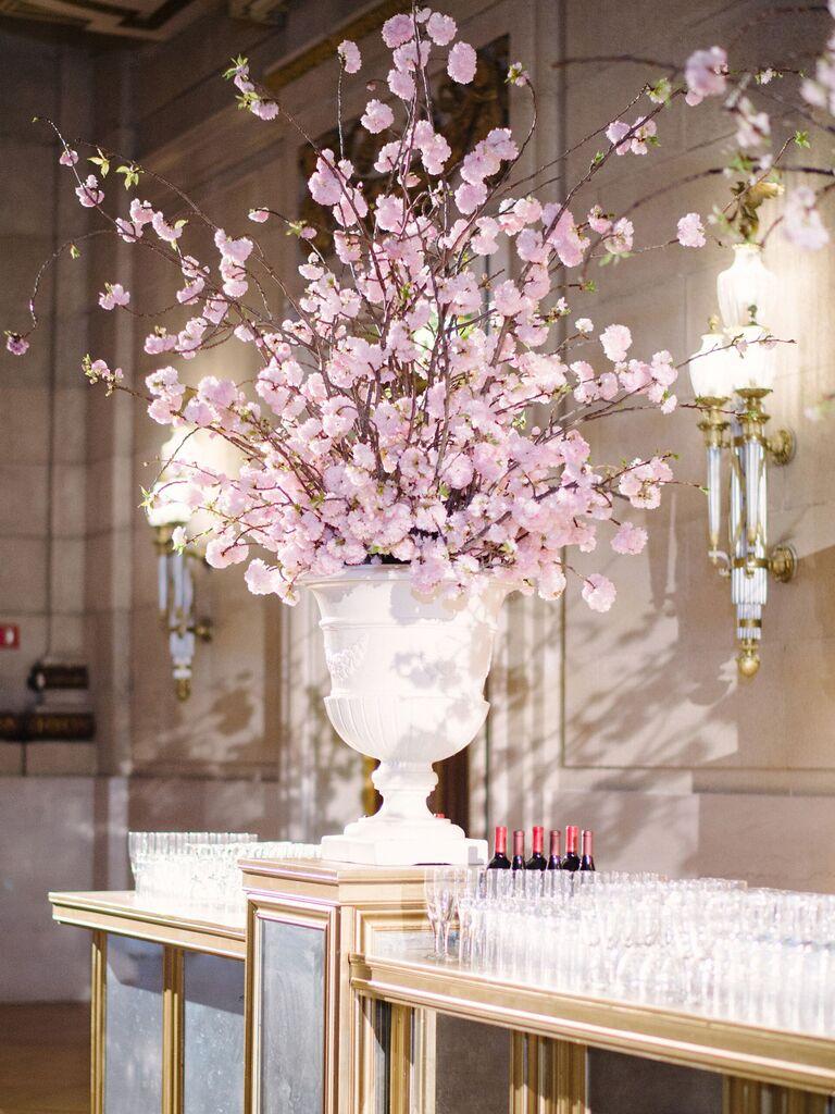 Wedding Centerpieces Tall Cherry Blossom