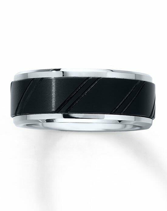 Kay Jewelers Black and White Tungsten Carbide 9mm Wedding Band-252073402 Wedding Ring photo