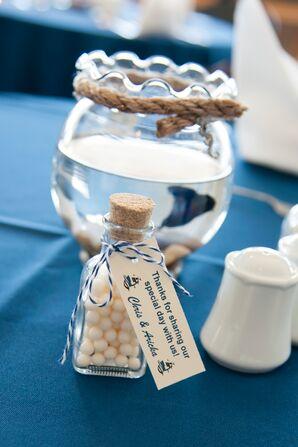 Bottled Ivory Candy Wedding Favors