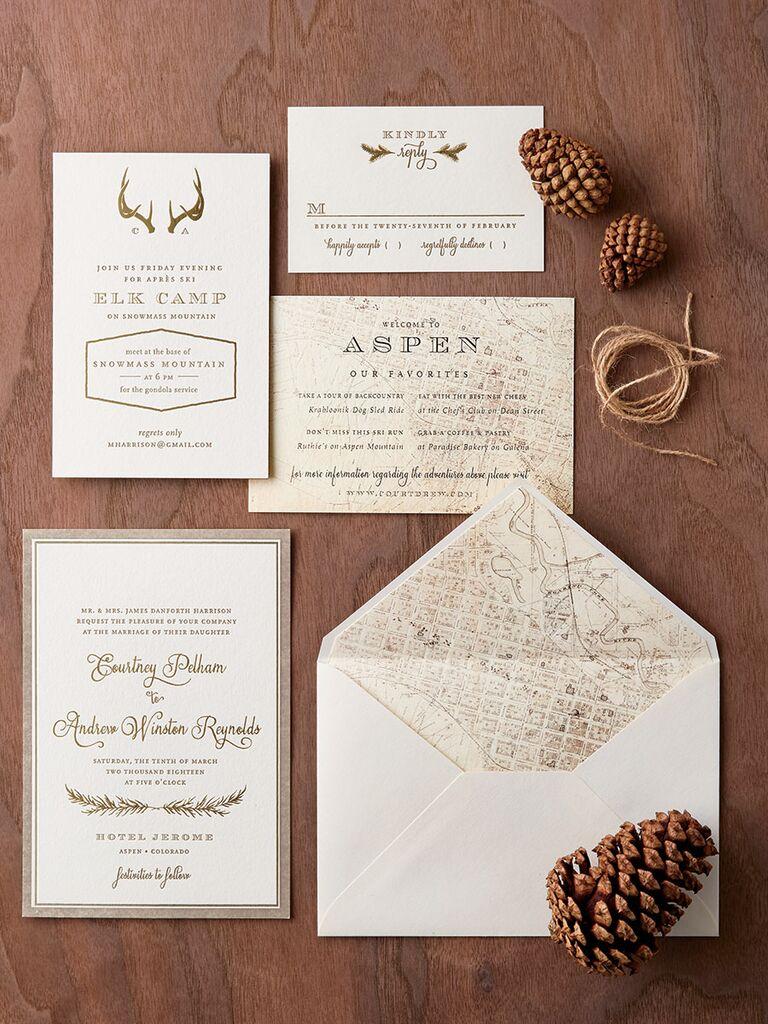 Regas Paper pocket wedding invitation