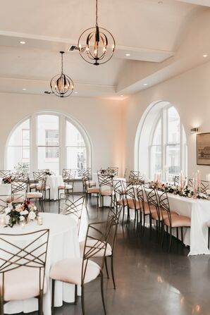 Formal Wedding Reception With Glam Metal Chairs in New Orleans, Louisiana