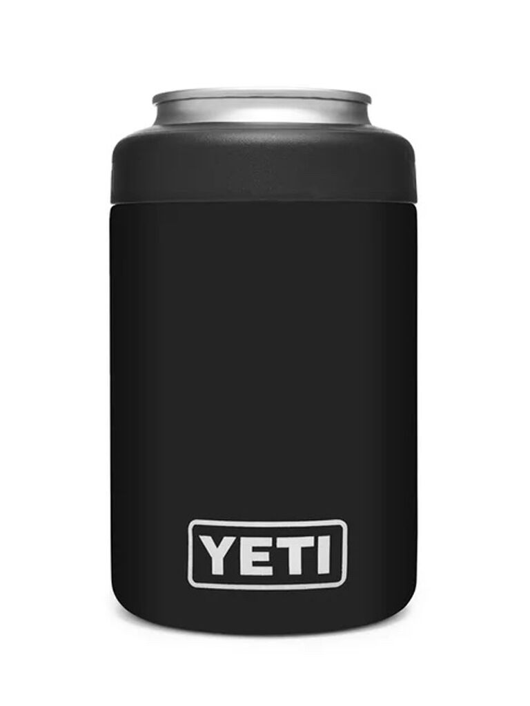 yeti engraved black can colster for bachelor party favors