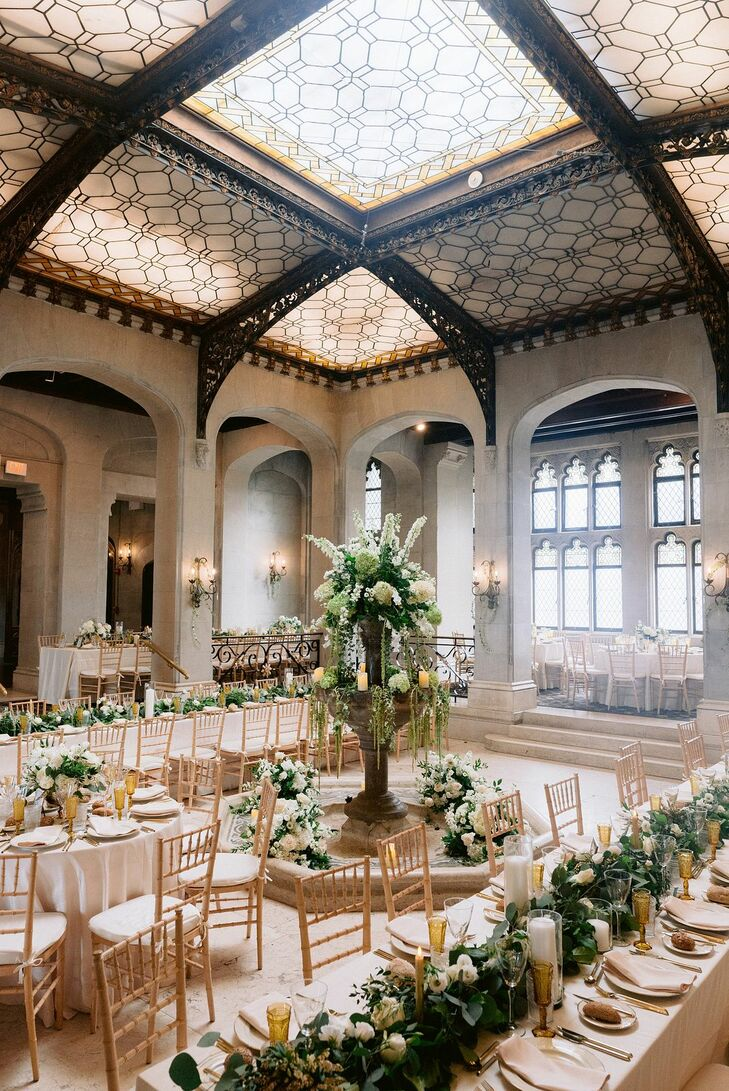 Wedding Reception Decor at The Hempstead House in Sands Point, New York