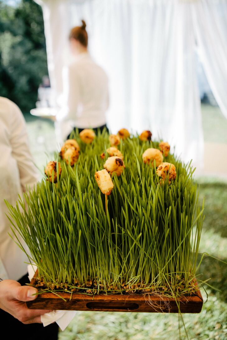 Creative presentation made the passed hors d'oeuvres that much more special.