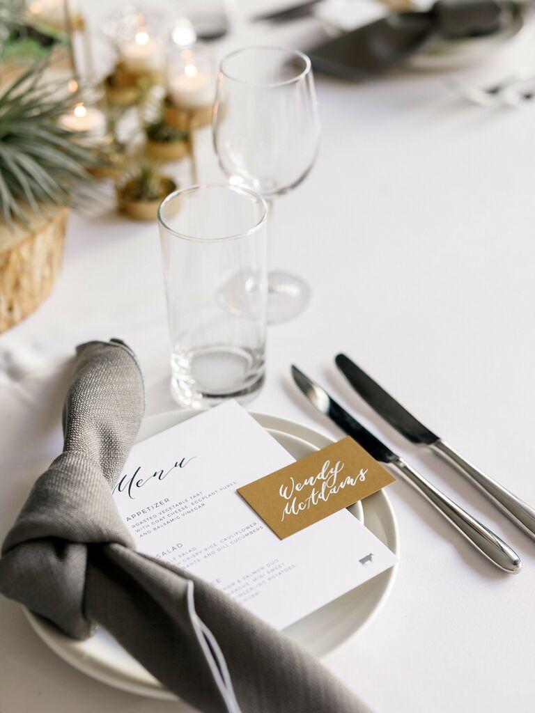 wedding place card rustic