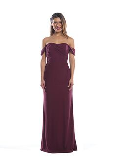 Bari Jay Bridesmaids ELENA Off the Shoulder Bridesmaid Dress