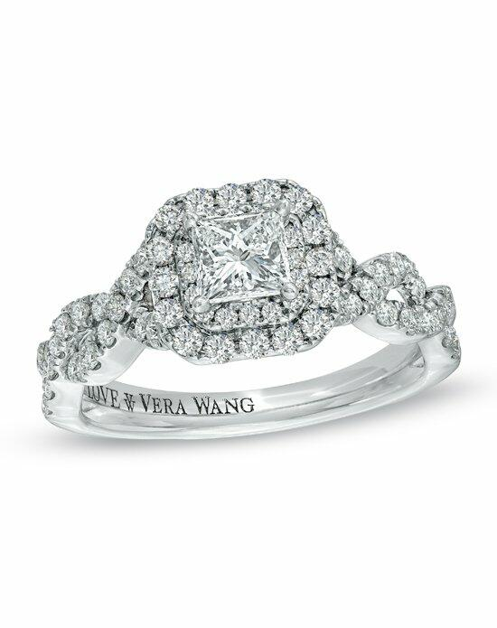 Vera Wang LOVE at Zales Vera Wang LOVE Collection 1 CT T W Princess Cut D