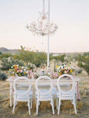 Simple Boho Decor Added to the Desert Wedding Celebration