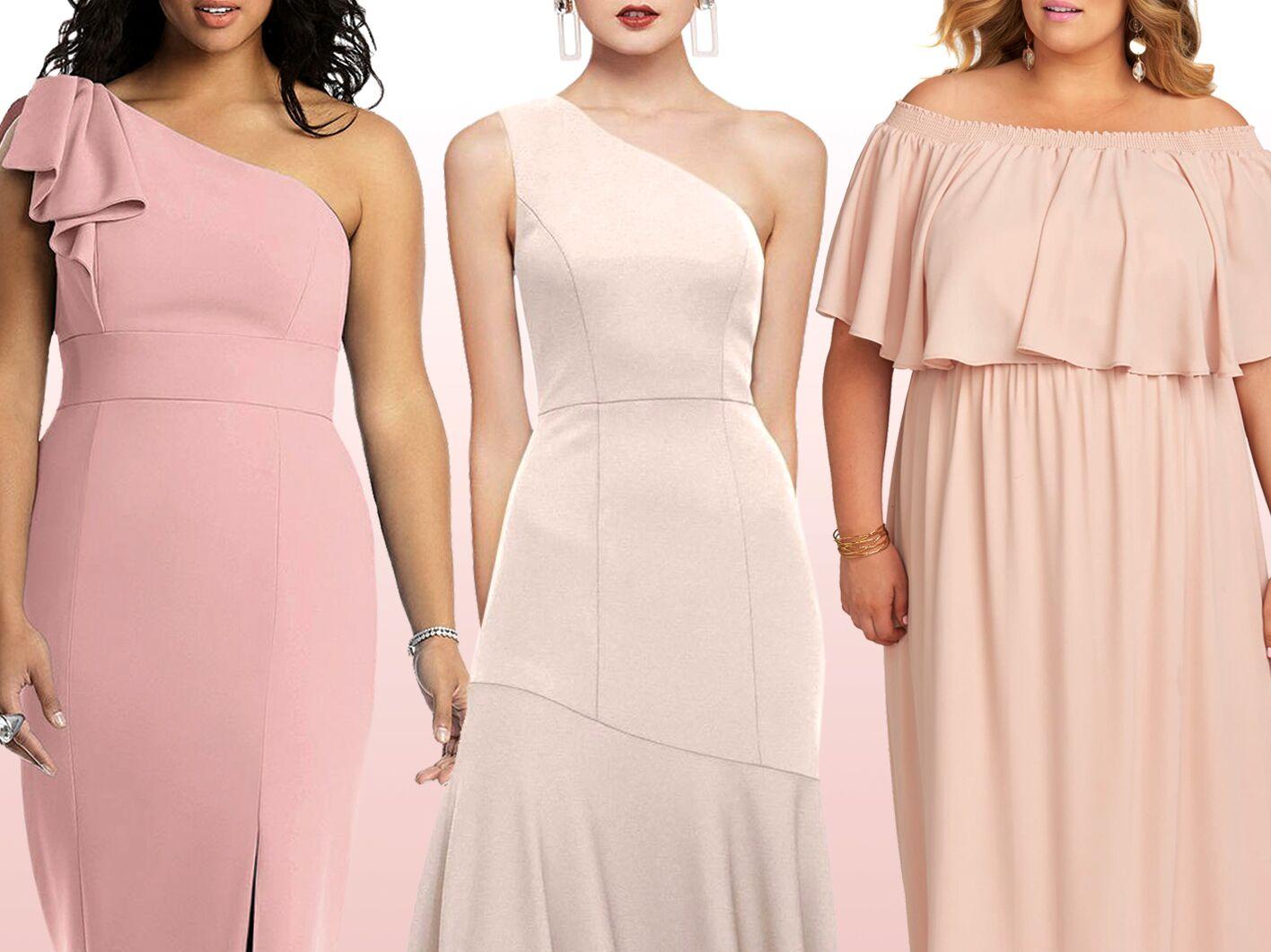 bridesmaid dresses pink