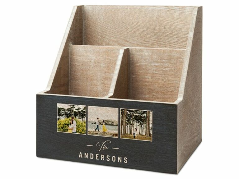 Personalized photo caddy desk set gift