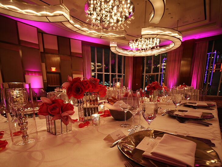 pink and silver wedding at the Mandarin Oriental Las Vegas