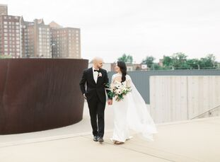 """As a celebration on their shared love for art, Fay and Nick exchanged vows at The St. Louis Contemporary Art Museum in Missouri. Fay and Nick, """"knew w"""