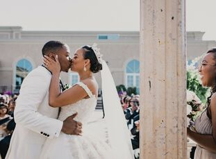 """Lauren Branche (30 and a medical student) and Therence """"TJ"""" James Jr. (27 and a public health researcher) mark their love with words. The pair started"""