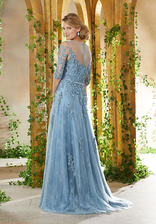MGNY 71931 Blue,Champagne,Gray Mother Of The Bride Dress