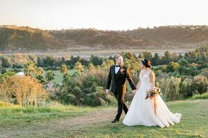 Bride and Groom Sunset Photos in San Diego, California