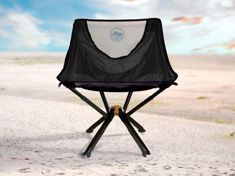 Cliq black folding chair