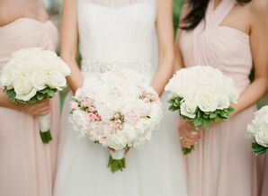 White and Blush Bouquets