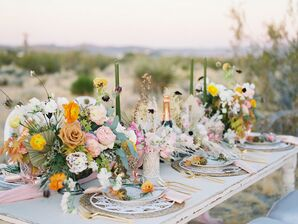 Wildflowers and Simple Decor Complemented This Intimate Elopement Ceremony