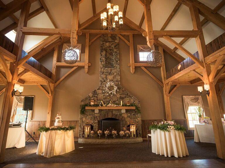 Barn wedding venue in Princeton, Massachusetts.