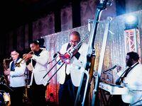 Jazz band performing at wedding reception