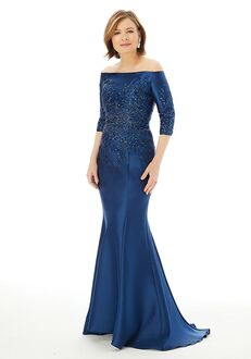 MGNY 72213 Silver,Blue Mother Of The Bride Dress