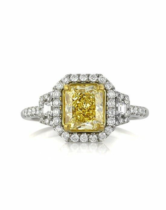 Mark Broumand 2.29ct Fancy Yellow Radiant Cut Diamond Engagement Anniversary Ring Engagement Ring photo