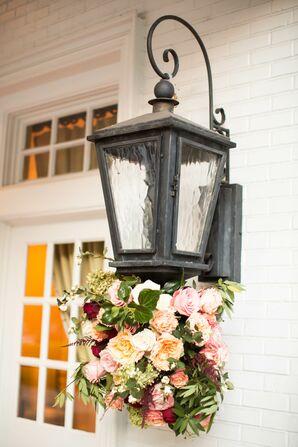 Romantic Garden Rose Lantern Arrangement
