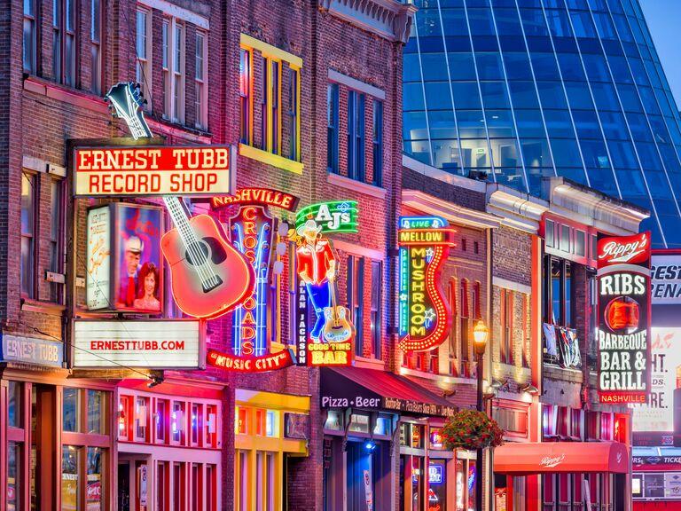 Nashville street at night