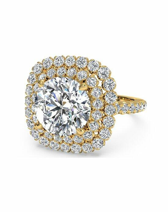 Ritani Round Cut Double French-Set Halo Diamond Band Engagement Ring in 18kt Yellow Gold (0.75 CTW) Engagement Ring photo