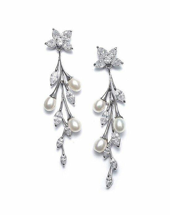 USABride Dangling Pearl & CZ Earrings JE-1312 Wedding Earrings photo