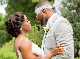 """""""Simple elegance"""" inspired Meghan and Daquan as they were planning their wedding at O'Donnell House in Sumter, South Carolina. """"My wedding was everyth"""