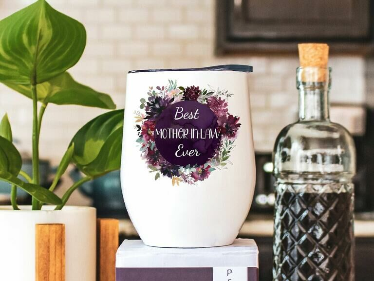 Best Mother-in-Law Ever travel wine tumbler