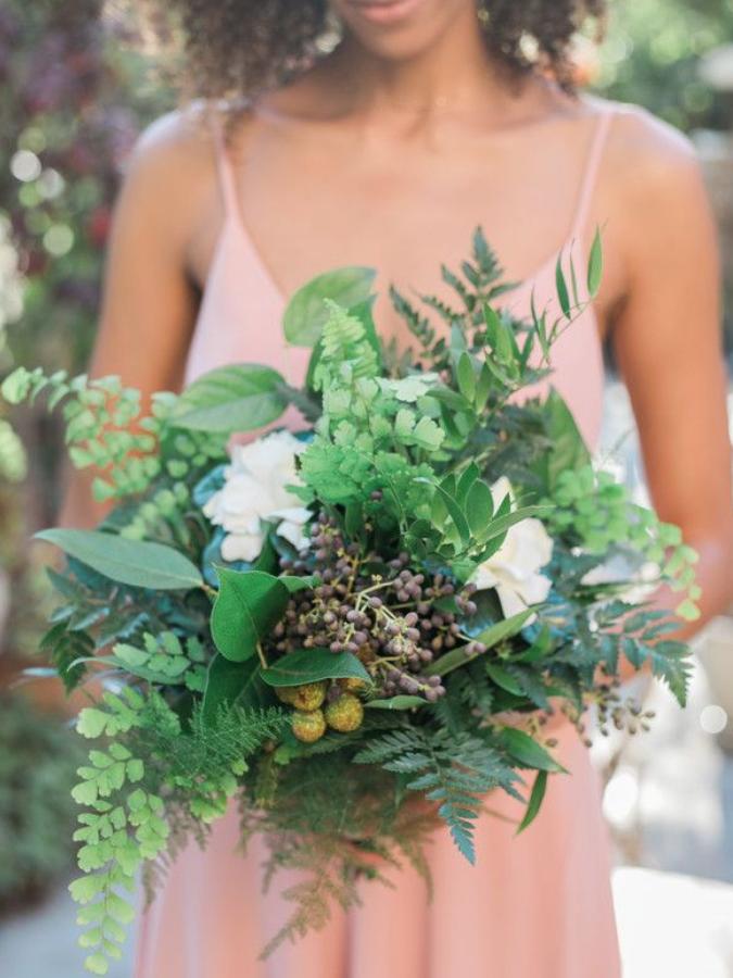 fern-filled bouquet