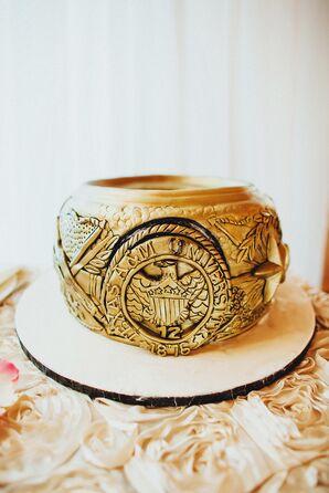 Metallic Gold Aggie Ring Groom's Cake