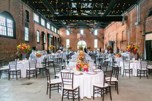 Industrial Wedding Reception at Tenk West Bank in Cleveland, Ohio