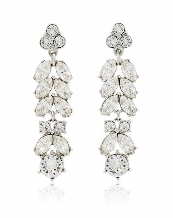 Thomas Laine Ben-Amun Marquise Crystal Linear Drop Earrings Wedding Earrings photo
