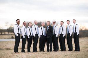 Casual Dusty Blue Groomsmen in Oskaloosa, Kansas