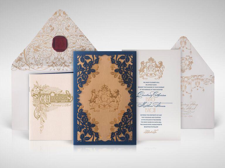 Atelier Isabey custom crest wedding invitation design