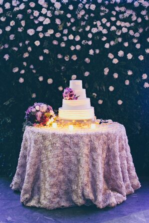 Tropical Cake Adorned With Purple FlowersTropical Cake with Adorned with Purple Flowers