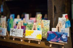 Hand-Painted Art Wedding Favors