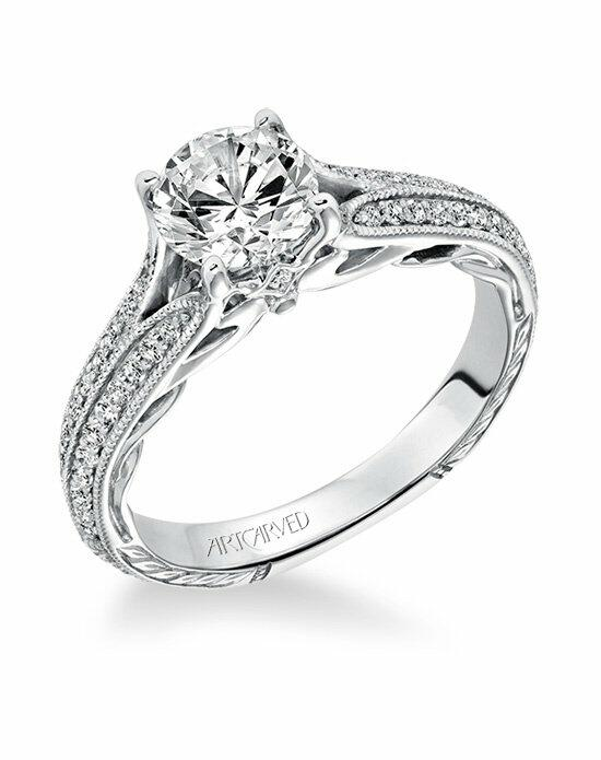 ArtCarved 31-V620ERW-E Engagement Ring photo