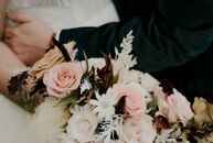 """Megan and Manny's main priority with their wedding was to """"make it feel uniquely and truly us,"""" Megan says. """"I'm an interior designer, so naturally I"""