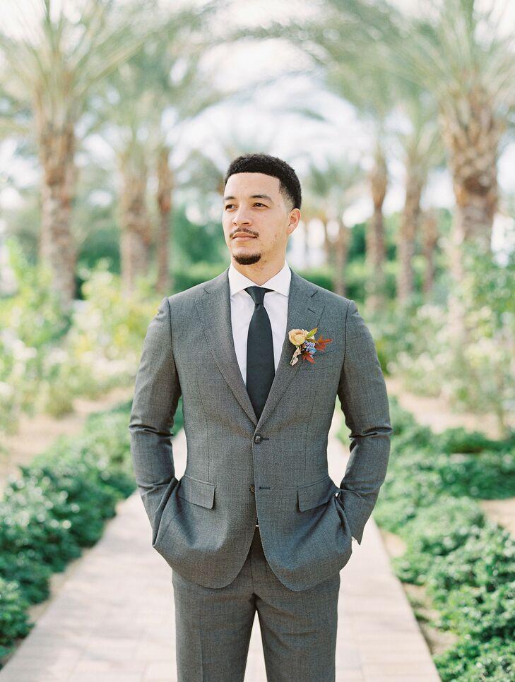 Groom Wedding Portraits in Coachella, California