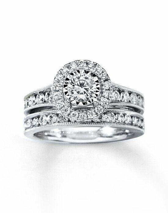 Kay Jewelers Diamond Bridal Set 1 3 8 CT TW ROUND CUT 14K WHITE GOLD Engagement Ring